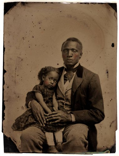 Untitled [African-American man and girl]