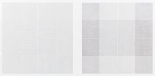 Wall Drawing 1: Drawing Series II 18 (A & B)