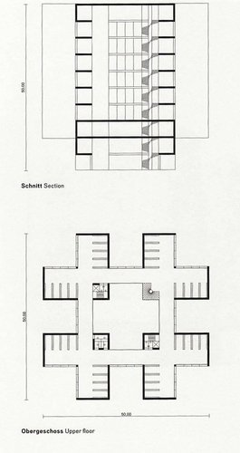 Silent Architecture [Library section and plan]