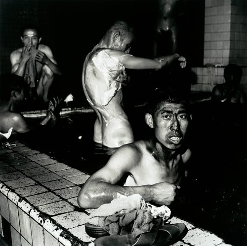 Two Miners in Public Bathhouse, Datong, Shanxi Province, 1998