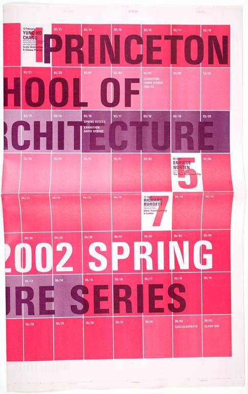 image of 'Princeton School of Architecture 2002 Spring Lecture Series poster'