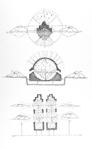 The Loss of Urbanity, the Leveling of the Sacred Mountain, from the series Civilizing Terrains, 1989