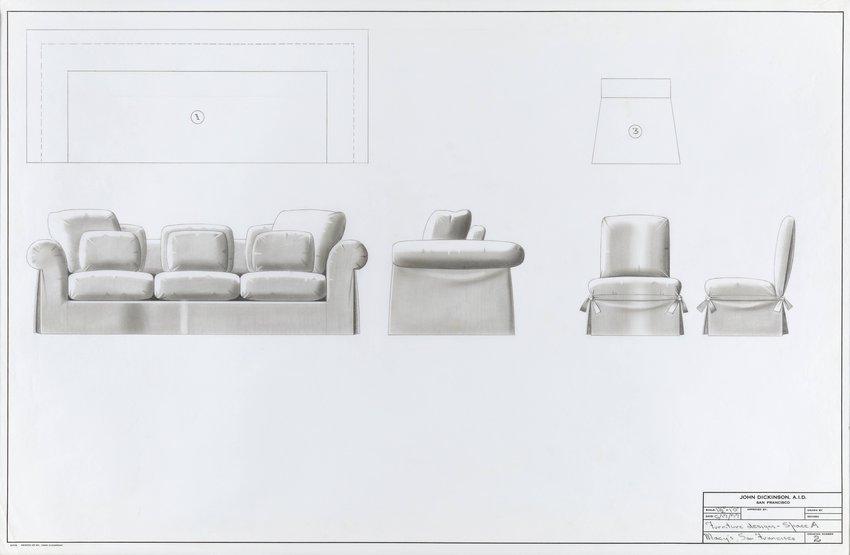 John Dickinson, Furniture Designs For Space A, Macyu0027s, San Francisco, 1977