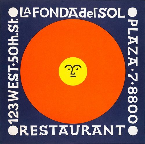 Supper Menu for La Fonda del Sol Restaurant, New York