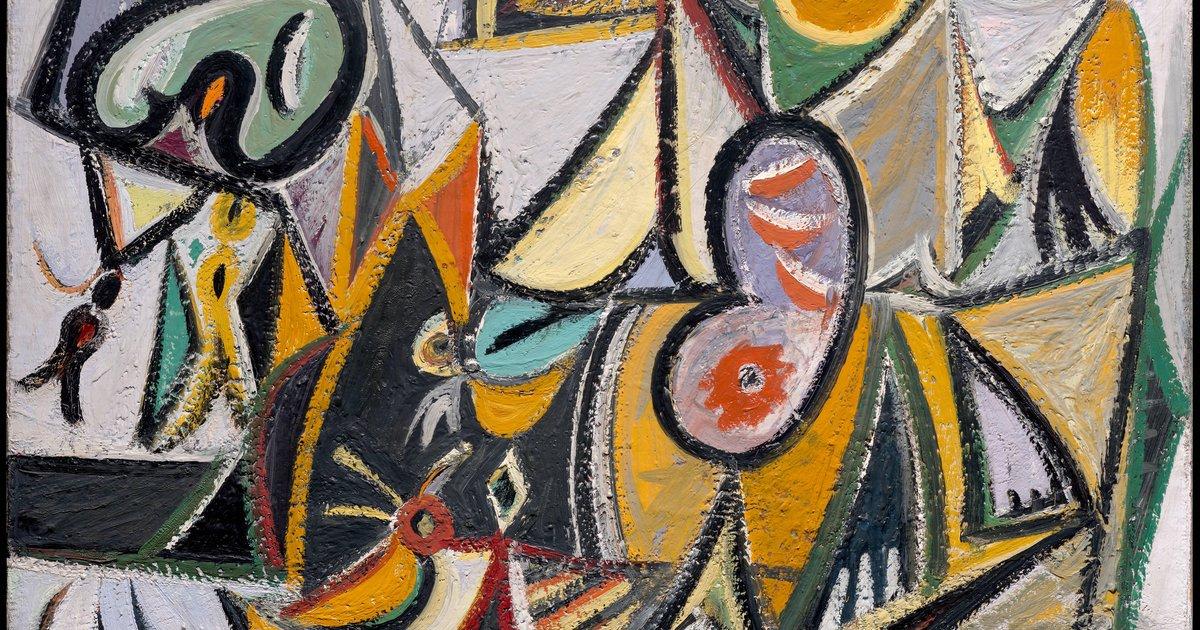 Arshile Gorky, Enigmatic Combat, 1936-1937 · SFMOMA