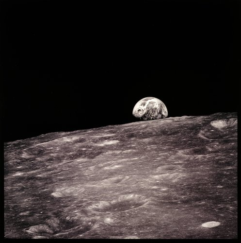 Earthrise Seen for the First Time By Human Eyes, from the series Full Moon by Michael Light