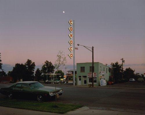 Conoco Sign, Center Street, Kanab, Utah, August 9, 1973