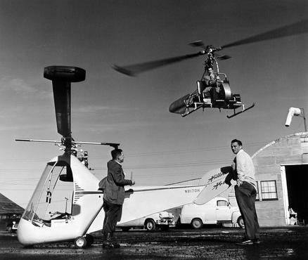 "image of 'Stanley Hiller Up in the ""Hornet,"" California'"