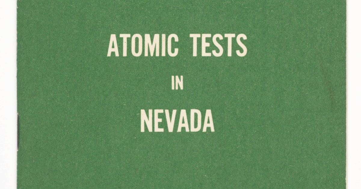 United States Atomic Energy Commission Atomic Tests In Nevada 1957 Sfmoma