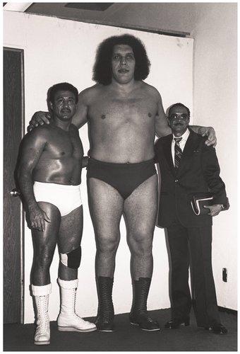 André el Gigante, Angel Blanco y José Luis Valero, Arena México