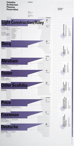 Columbia University School of Architecture, Planning, and Preservation, Fall 1995 Lecture Series Poster