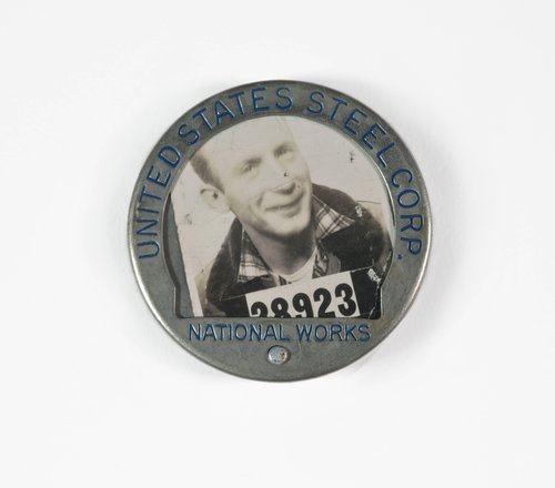 Untitled [Identification badge from United States Steel Corporation]