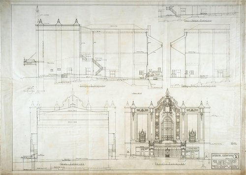 New Castro Theatre, San Francisco, California (Exterior Elevations)