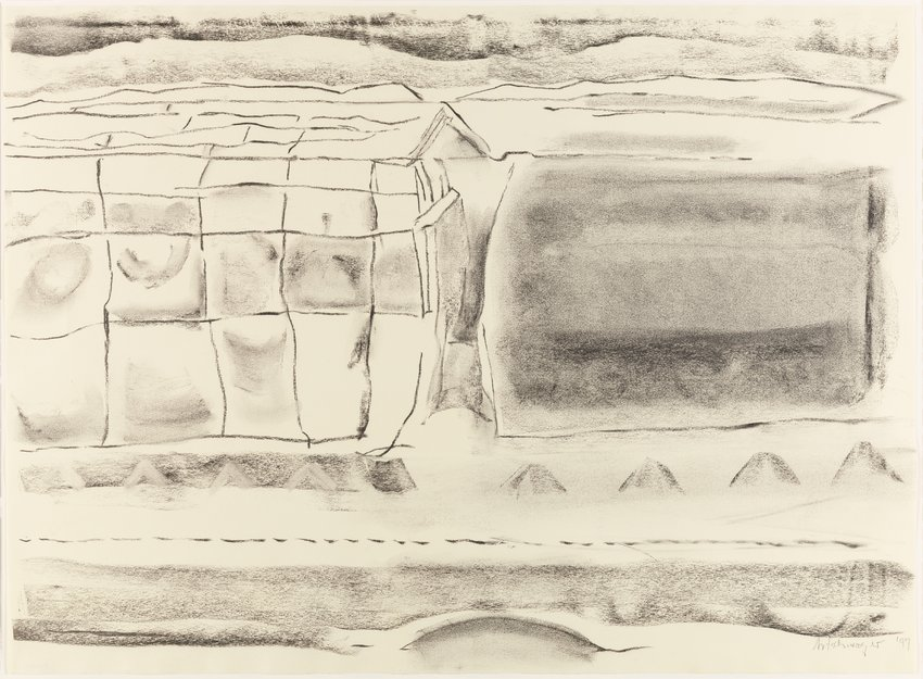 image of Untitled (Landscape with roofline)