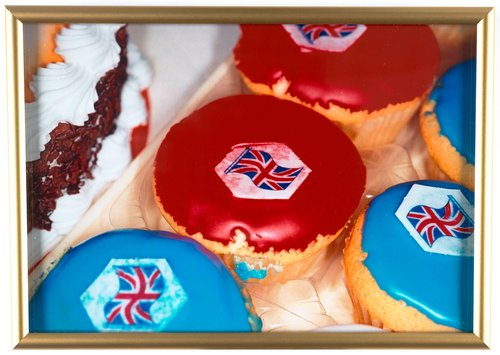 Untitled [Union Jack cupcakes], from the series British Food