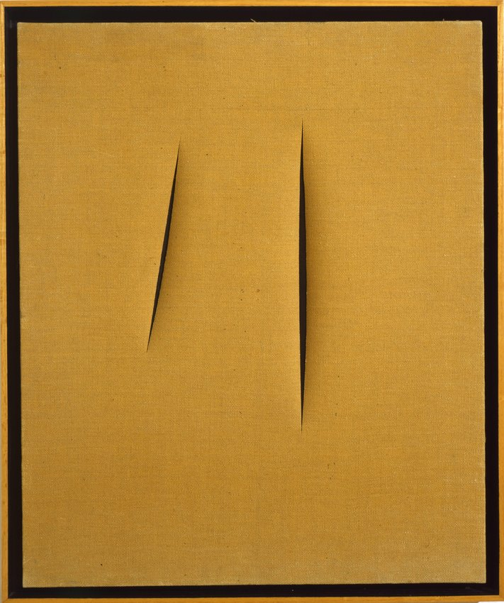 image of 'Concetto spaziale, attese (Spatial Concept, Waiting)'