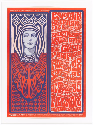 Captain Beefheart and His Magic Band, Chocolate Watchband, The Great Pumpkin; Fillmore Auditorium, October 21-23, 1966
