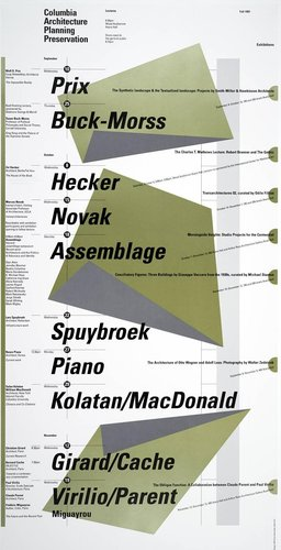 Columbia University School of Architecture, Planning, and Preservation, Fall 1997 Lecture Series Poster