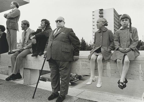 Onlookers at the George Moscone funeral