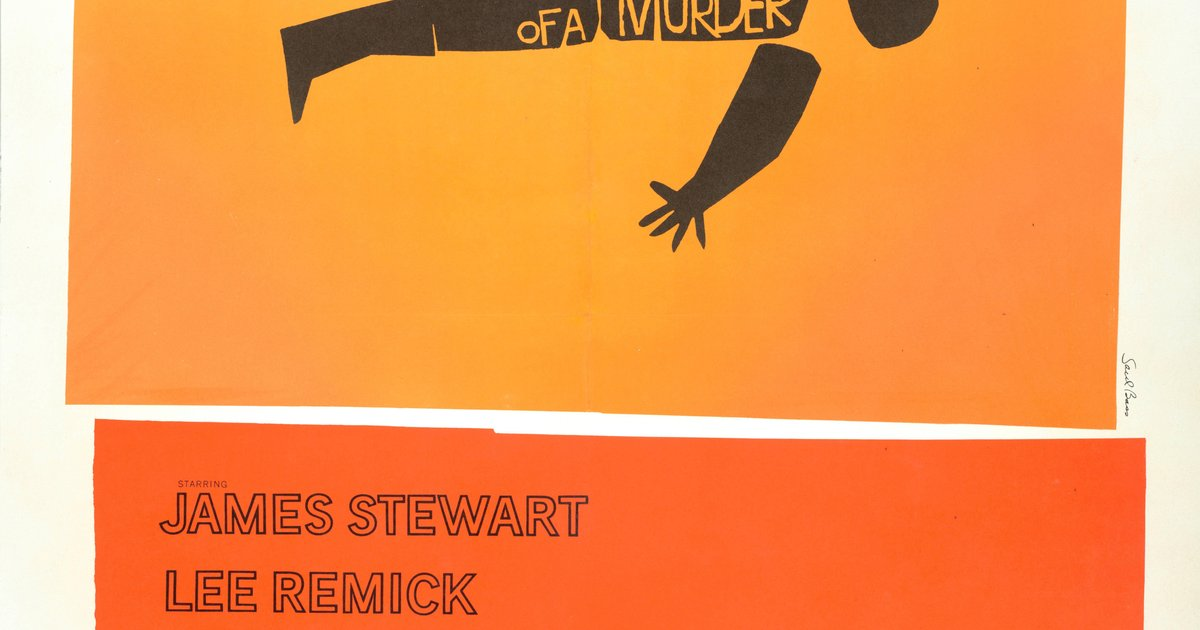 Saul Bass, Anatomy of a Murder poster, 1959 · SFMOMA