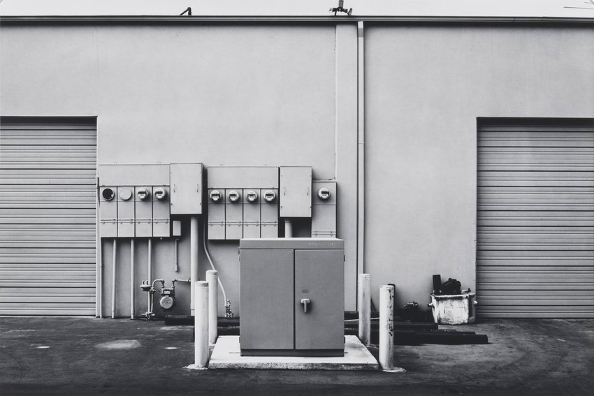 image of 'North Wall, Niguel Hardware, 26087 Getty Drive, Laguna Niguel, from the portfolio The New Industrial Parks near Irvine, California'