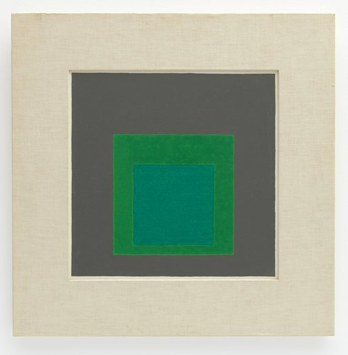 Study for Homage to the Square: Shaded Green