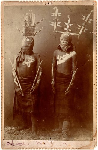 Untitled [Two Apache Gaan dancers]