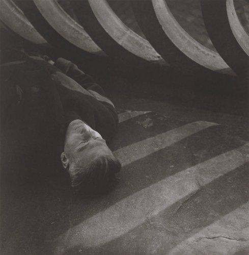 Detail a muž / protrét Eugena Wiškovskéno (A Close-up of a Man / Portrait of Eugen Wiškovský), from the series Jaromír Funke