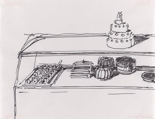Untitled (Bakery Case with Wedding Cake)