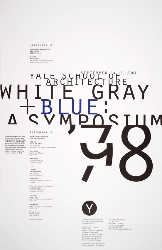 image of 'White, Gray, and Blue: A Symposium poster'