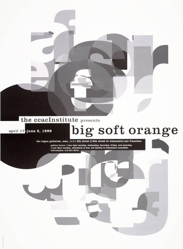 The CCAC Institute poster: Big Soft Orange