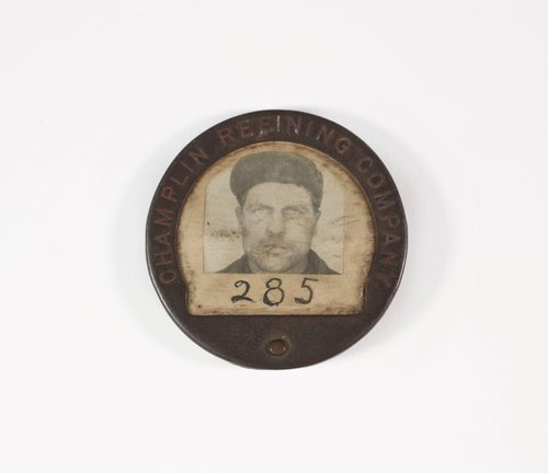 Untitled [Identification badge from Champlin Refining Company]