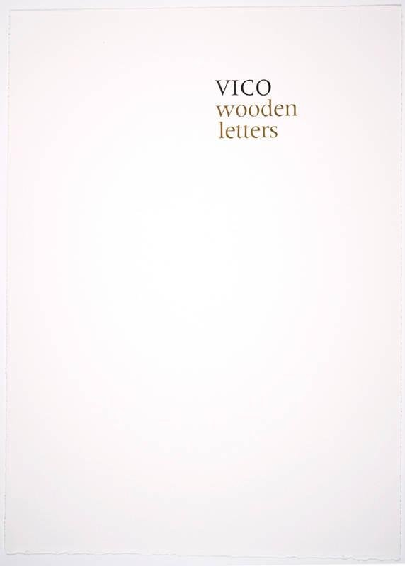 image of Title Page, from the portfolio Vico Wooden Letters