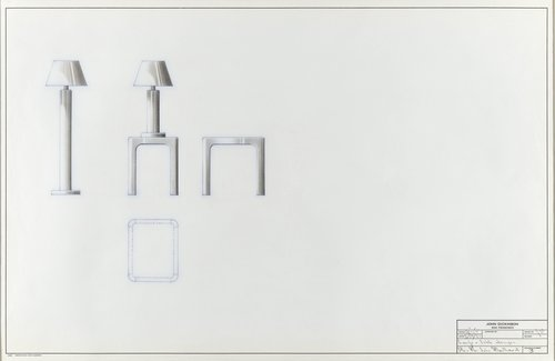 Lamp and table designs for Mr. and Mrs. John Mailliard