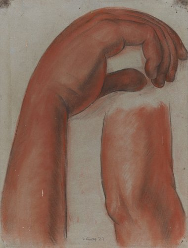 Untitled (right arm and hand of the figure Dance), study for the mural Creation, National Preparatory School, Mexico City