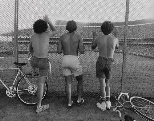 Three boys watching, from the portfolio Leisure