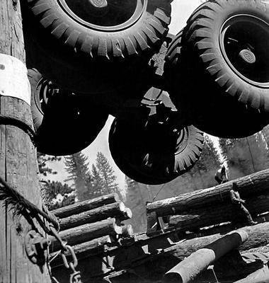 image of 'Untitled (Telescoping Logging Truck), from the Red River series'