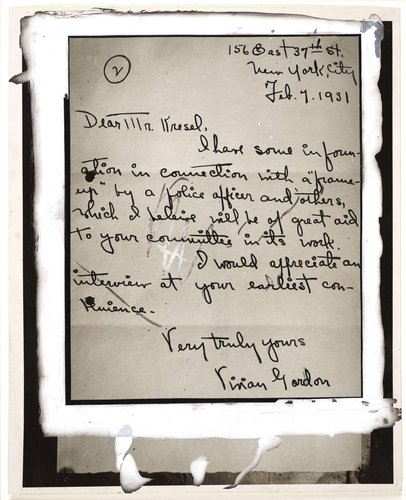 """Vivian Gordon's Message"""