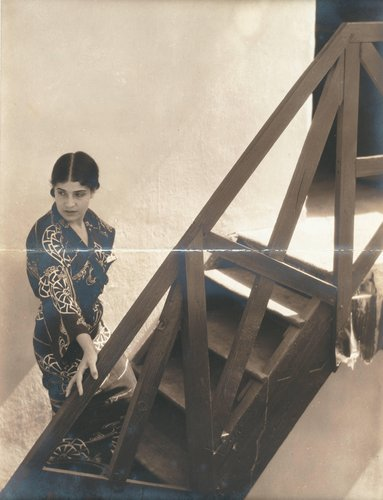 Untitled [Tina Modotti on stairs]