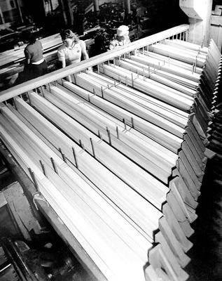 image of 'Untitled (Cutting Venetian Blind Slats), from the Red River series'