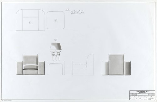 Furniture Designs for Space B, Macy's, San Francisco
