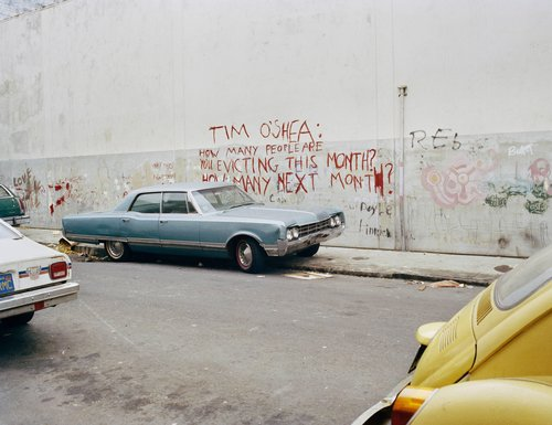 Tim O'Shea Eviction Graffiti, Langton Street, San Francisco, from the series South of Market, 1978-1986
