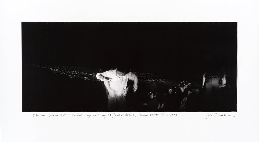 image of '3:30 am Undocumented workers captured by U.S. Border Patrol, Chula Vista, California, from the series Crossings'