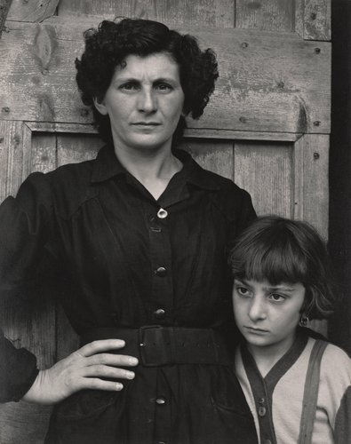 Postmistress and Daughter, Luzzara, Italy