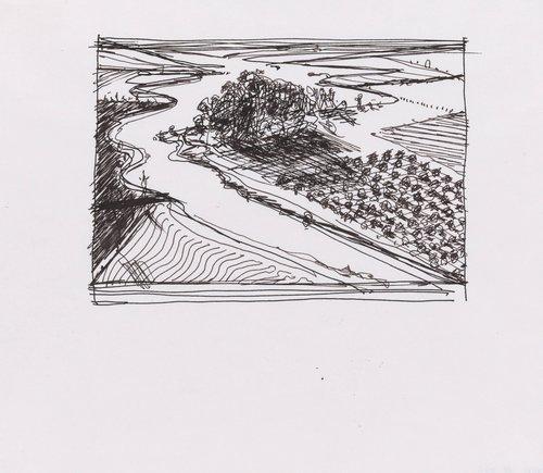 Untitled (Study for Flatland River)