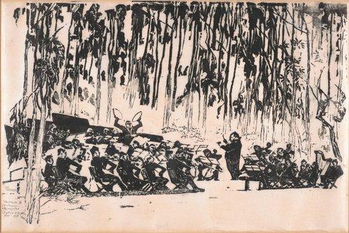 Pierre Monteux Leading Orchestra