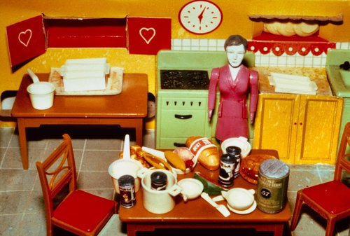 Purple Woman/Kitchen