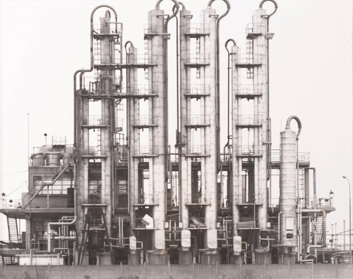 Raffinerie bei Metz, Frankreich (Refinery near Metz, France), from the portfolio Industriebauten (Industrial Buildings)