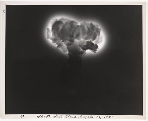 Shasta Shot, cloud, August 15, 1957, from Atomic Tests in Nevada