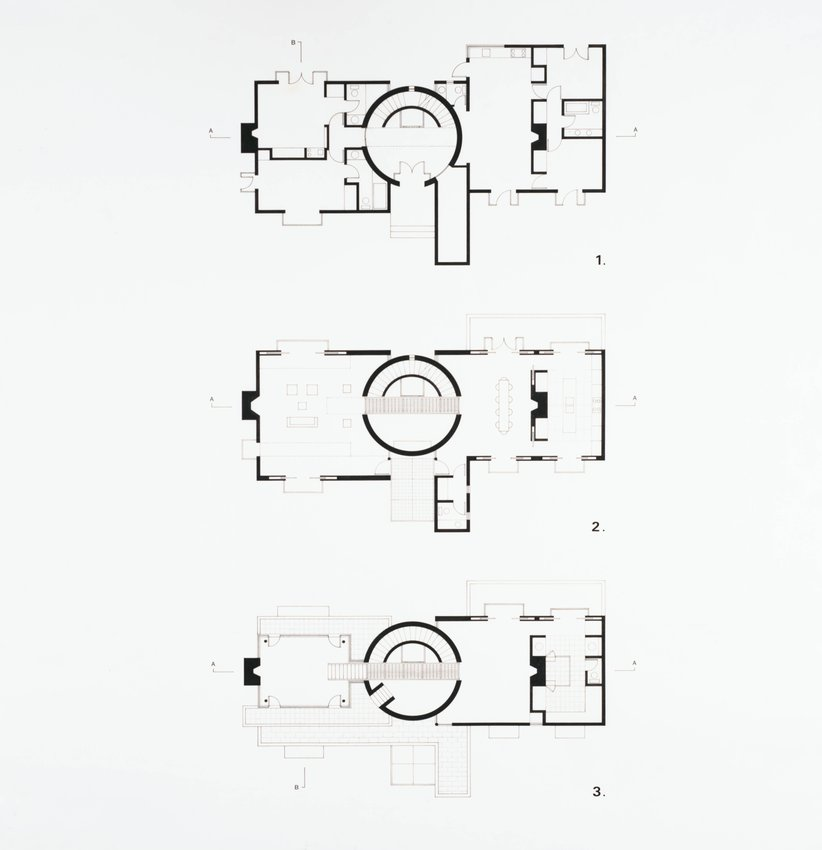 image of 'House for Nancy and Steven Oliver, San Francisco, California (Floor Plans)'